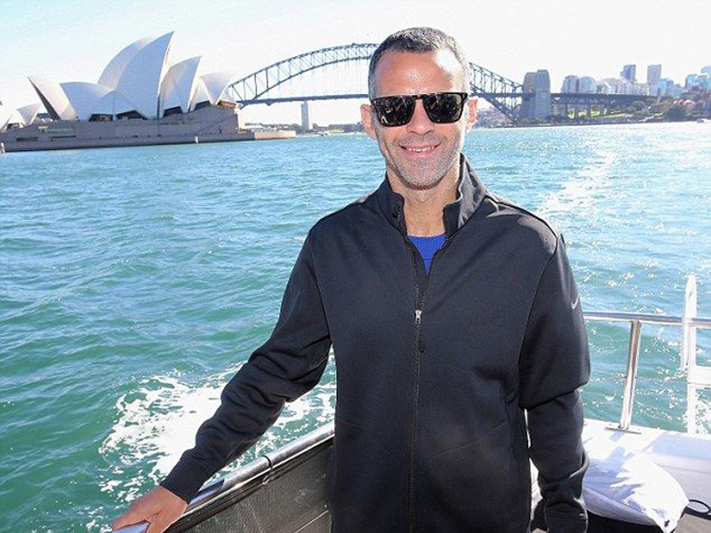 Man Utd legend Ryan Giggs on on the MV Sea Escape